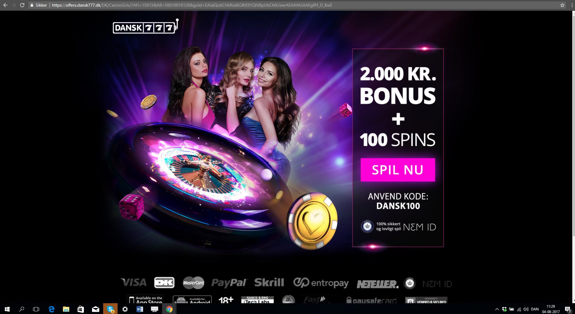 Dansk777 bonuskoder