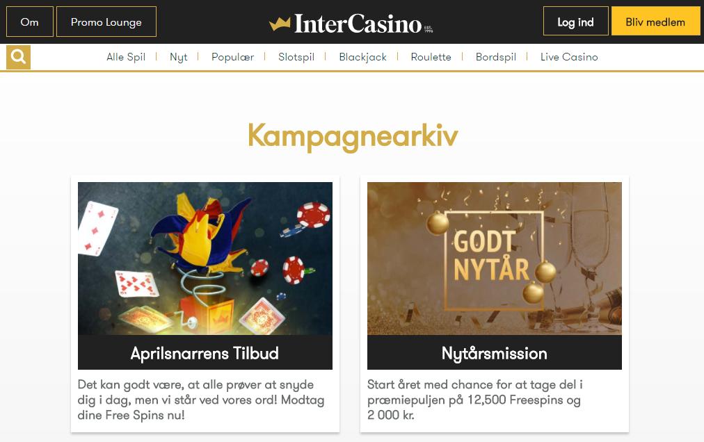 intercasino casino kampagne