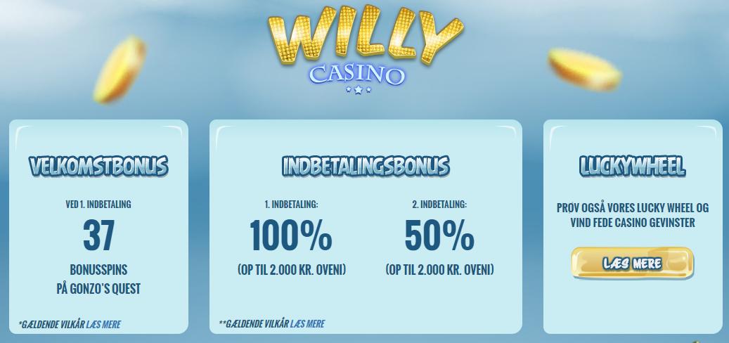 willy casino bonus
